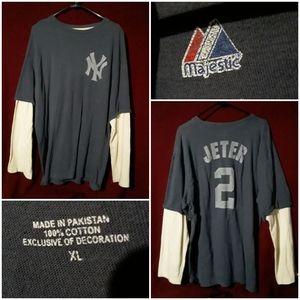 Majestic New York Yankees Derek Jeeter LongSleeve